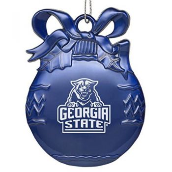 Georgia State University - Pewter Christmas Tree Ornament - Blue