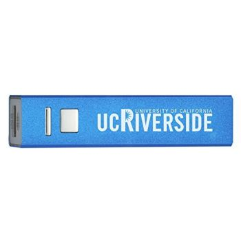 University of California, Riverside - Portable Cell Phone 2600 mAh Power Bank Charger - Blue