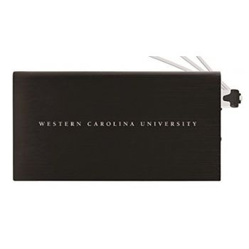 8000 mAh Portable Cell Phone Charger-Western Carolina University -Black