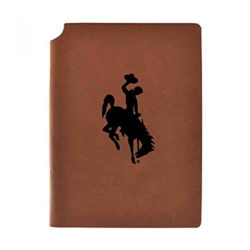 University of Wyoming Velour Journal with Pen Holder|Carbon Etched|Officially Licensed Collegiate Journal|