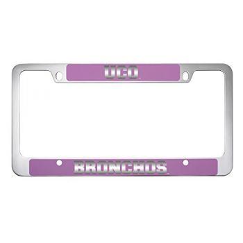 College of Charleston-Metal License Plate Frame-Pink