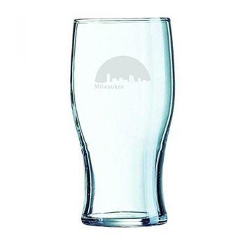19.5 oz Irish Pint Glass - Milwaukee City Skyline
