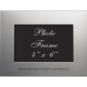 Western Kentucky University - 4x6 Brushed Metal Picture Frame - Silver