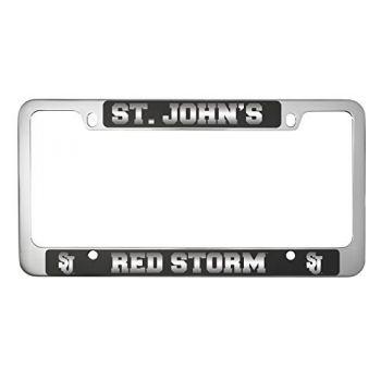 St. John's University -Metal License Plate Frame-Black