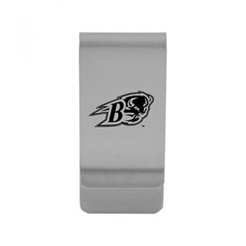 Bucknell University|Money Clip with Contemporary Metals Finish|Solid Brass|High Tension Clip to Securely Hold Cash, Cards and ID's|Gold