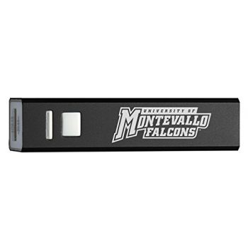 University of Montevallo - Portable Cell Phone 2600 mAh Power Bank Charger - Black