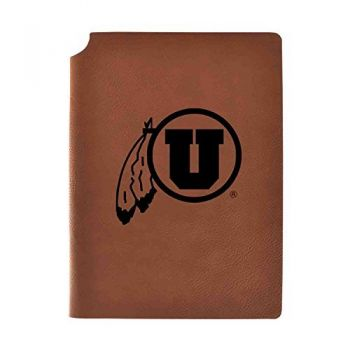 University of Utah Velour Journal with Pen Holder|Carbon Etched|Officially Licensed Collegiate Journal|