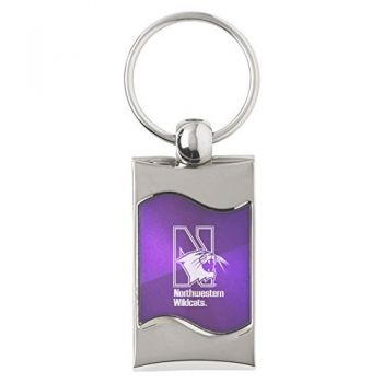 Northwestern University - Wave Key Tag - Purple