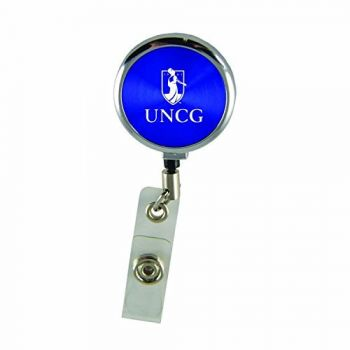 University of North Carolina at Greensboro-Retractable Badge Reel-Blue