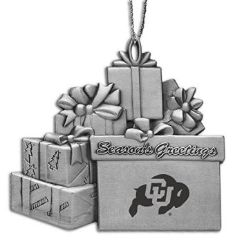 Univeristy of Colorado - Pewter Gift Package Ornament