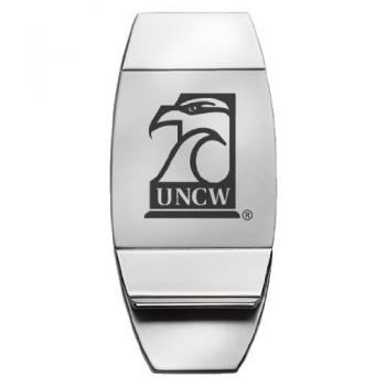 University of North Carolina Wilmington - Two-Toned Money Clip - Silver