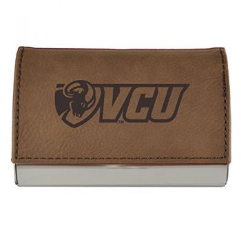 Velour Business Cardholder-Virginia Commonwealth University-Brown
