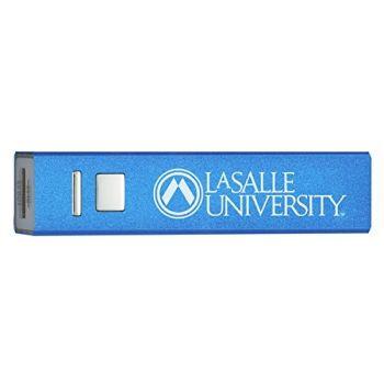 La Salle University - Portable Cell Phone 2600 mAh Power Bank Charger - Blue