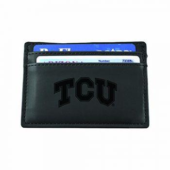 Texas Christian University-European Money Clip Wallet-Black