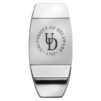 University of Delaware - Two-Toned Money Clip - Silver