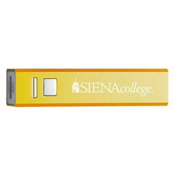 Siena College - Portable Cell Phone 2600 mAh Power Bank Charger - Gold