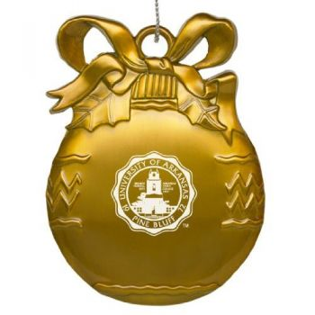 Alcorn State University - Pewter Christmas Tree Ornament - Gold