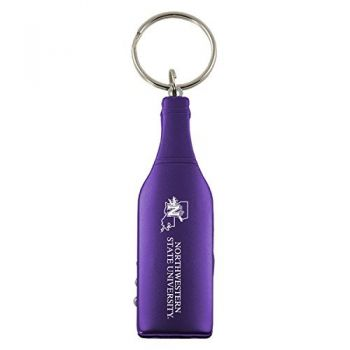 Northwestern State University-Wine Shaped Bottle Opener-Purple