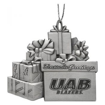 University of Alabama at Birmingham - Pewter Gift Package Ornament