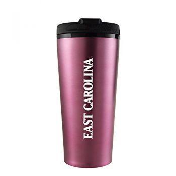 East Carolina University-16 oz. Travel Mug Tumbler-Pink