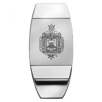 United States Naval Academy - Two-Toned Money Clip - Silver