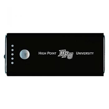High Point University-Portable Cell Phone 5200 mAh Power Bank Charger -Black