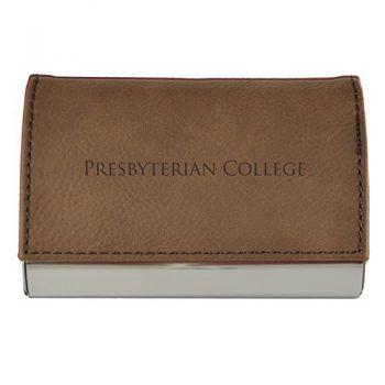Velour Business Cardholder-Presbyterian College-Brown
