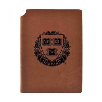 Harvard University Velour Journal with Pen Holder|Carbon Etched|Officially Licensed Collegiate Journal|
