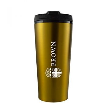Brown University -16 oz. Travel Mug Tumbler-Gold