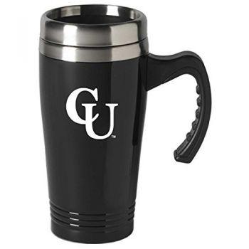 Campbell University-16 oz. Stainless Steel Mug-Black