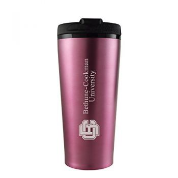 Bethune-Cookman University-16 oz. Travel Mug Tumbler-Pink