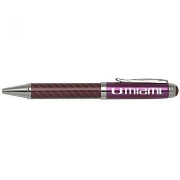 University of Miami -Carbon Fiber Mechanical Pencil-Pink
