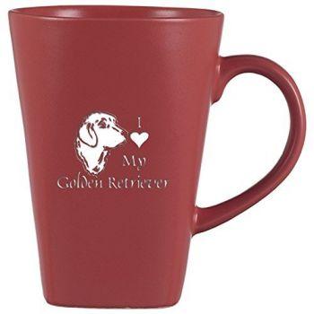 14 oz Square Ceramic Coffee Mug  - I Love My Golden Retriever