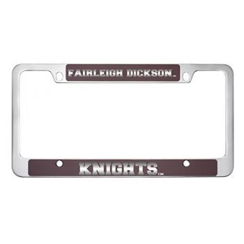 Fairleigh Dickinson University -Metal License Plate Frame-Burgundy