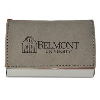 Velour Business Cardholder-Belmont University-Grey