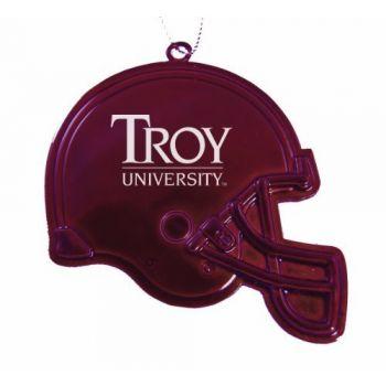 Troy University - Chirstmas Holiday Football Helmet Ornament - Burgundy