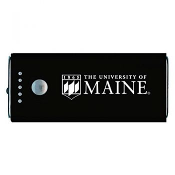 University of Maine-Portable Cell Phone 5200 mAh Power Bank Charger -Black