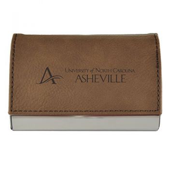 Velour Business Cardholder-University of North Carolina at Asheville-Brown