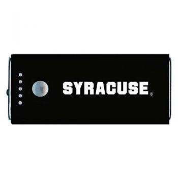 Syracuse University-Portable Cell Phone 5200 mAh Power Bank Charger -Black