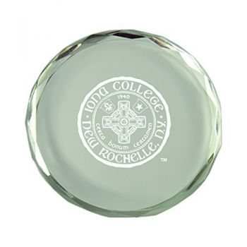 Iona College-Crystal Paper Weight