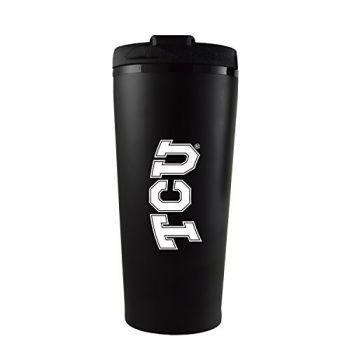 Texas Christian University -16 oz. Travel Mug Tumbler-Black