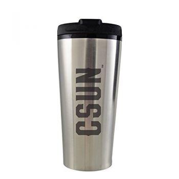 California State University, Northridge -16 oz. Travel Mug Tumbler-Silver