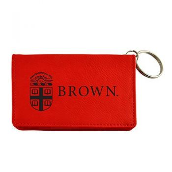 Velour ID Holder-Brown University-Red