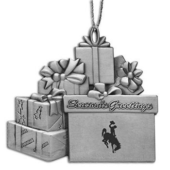 University of Wyoming - Pewter Gift Package Ornament