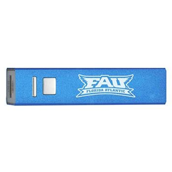 Florida Atlantic University - Portable Cell Phone 2600 mAh Power Bank Charger - Blue