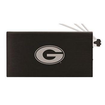 8000 mAh Portable Cell Phone Charger-Grambling State University-Black