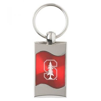 Stanford University - Wave Key Tag - Red