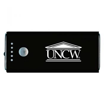 University of North Carolina Wilmington -Portable Cell Phone 5200 mAh Power Bank Charger -Black