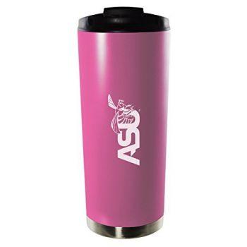 Alabama State University-16oz. Stainless Steel Vacuum Insulated Travel Mug Tumbler-Pink