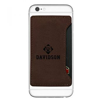 Davidson College-Cell Phone Card Holder-Brown
